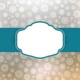 Projeto do frame do molde para o cartão de Natal. EPS 8 Foto de Stock