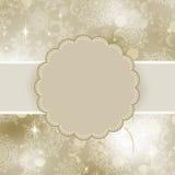 Projeto do frame do Natal para o cartão do xmas Imagens de Stock Royalty Free