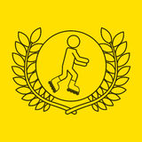 Projeto do fundo da bandeira do desportista do patim de rolo Imagens de Stock