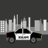 Projeto do fundo da cidade do carro de polícia Imagem de Stock Royalty Free