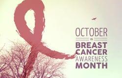 Projeto do fundo da natureza da conscientização do câncer da mama fotos de stock