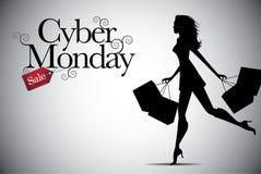 Projeto do fundo da venda de segunda-feira do Cyber com espaço da cópia Imagens de Stock Royalty Free