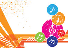 Projeto do fundo das notas da música Imagens de Stock