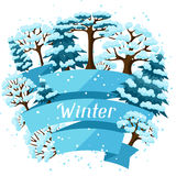 Projeto do fundo do inverno com o sumário estilizado Fotos de Stock Royalty Free