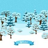Projeto do fundo do inverno com o sumário estilizado Imagem de Stock