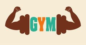 Projeto do Gym e da aptidão Foto de Stock