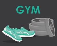 Projeto do Gym e da aptidão Fotos de Stock Royalty Free