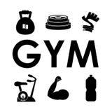 Projeto do Gym e da aptidão Imagens de Stock Royalty Free