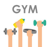 Projeto do Gym e da aptidão Fotografia de Stock