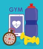 Projeto do Gym e da aptidão Imagem de Stock