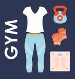 Projeto do Gym e da aptidão Fotos de Stock