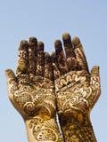 Projeto do Henna nas mãos Fotos de Stock