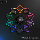 Projeto do infographics do vetor com rombos coloridos Foto de Stock Royalty Free