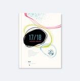 Projeto do informe anual Imagens de Stock