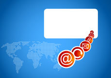 Projeto do Internet do Web para o homepage do negócio Imagem de Stock
