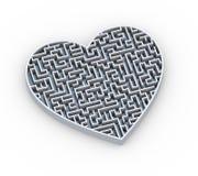 projeto do labirinto do coração 3d Foto de Stock Royalty Free