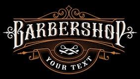 Projeto do logotipo do barbeiro ilustração royalty free