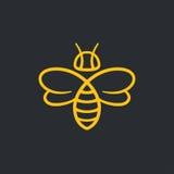 Projeto do logotipo da abelha ilustração royalty free