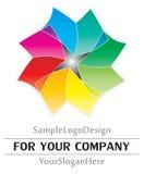 Projeto do logotipo da amostra Fotos de Stock