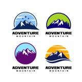 Projeto do logotipo da aventura ícone do projeto do logotipo da montanha ilustração royalty free