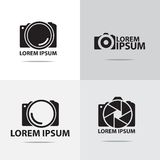 Projeto do logotipo da câmara digital Fotografia de Stock