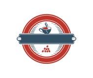 Projeto do logotipo da cafetaria Fotografia de Stock