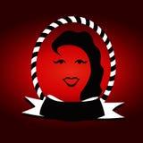 Projeto do logotipo da cara da senhora Imagens de Stock Royalty Free