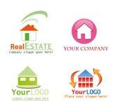 Projeto do logotipo da casa Fotos de Stock