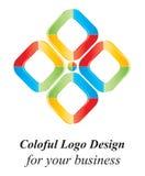 Projeto do logotipo da cor 3D Foto de Stock Royalty Free