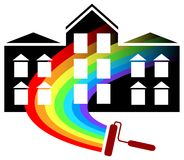 Projeto do logotipo da pintura ilustração do vetor