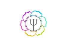 Projeto do logotipo da psicologia ilustração do vetor