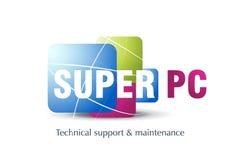 Projeto do logotipo da tecnologia Fotos de Stock