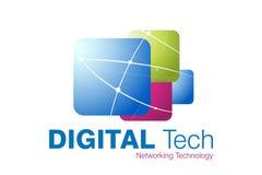 Projeto do logotipo da tecnologia Foto de Stock Royalty Free