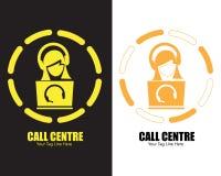 Projeto do logotipo da telecomunicação do centro de atendimento ilustração royalty free