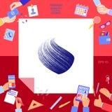Projeto do logotipo da terra com textura Imagens de Stock
