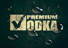Projeto do logotipo da vodca Conceito da tipografia para o vinhedo ilustração royalty free