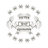 Projeto do logotipo das plantas, ilustração Foto de Stock