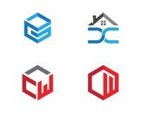 Projeto do logotipo de Real Estate, da propriedade e da construção Imagem de Stock Royalty Free