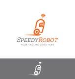 Projeto do logotipo de um caráter do robô Fotos de Stock