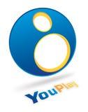 Projeto do logotipo de YouPlay ilustração do vetor