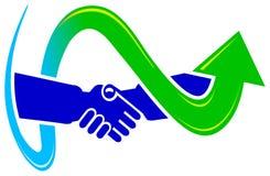 Projeto do logotipo do acordo ilustração royalty free