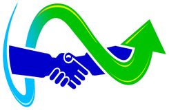 Projeto do logotipo do acordo Imagens de Stock Royalty Free