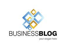 Projeto do logotipo do blogue do negócio Fotos de Stock