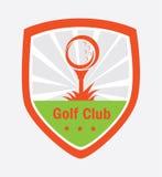 Projeto do logotipo do golfe Fotografia de Stock Royalty Free