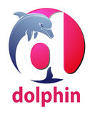 Projeto do logotipo do golfinho Foto de Stock Royalty Free