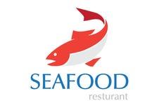 Projeto do logotipo do marisco Fotografia de Stock Royalty Free