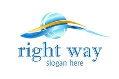 Projeto do logotipo do negócio Fotografia de Stock Royalty Free