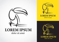 Projeto do logotipo do pássaro do tucano Foto de Stock Royalty Free