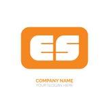 Projeto do logotipo do vetor do ES Imagem de Stock Royalty Free