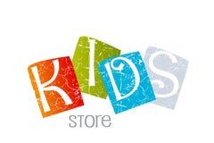 Projeto do logotipo dos miúdos Imagens de Stock